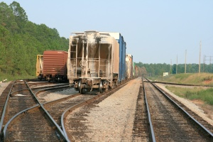 freight cars on train tracks